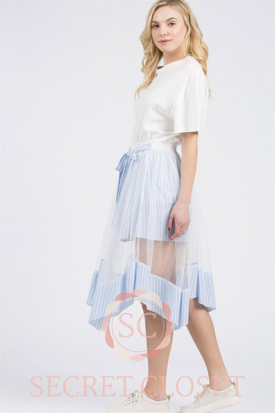 Mesh Layer Skirt Clothing