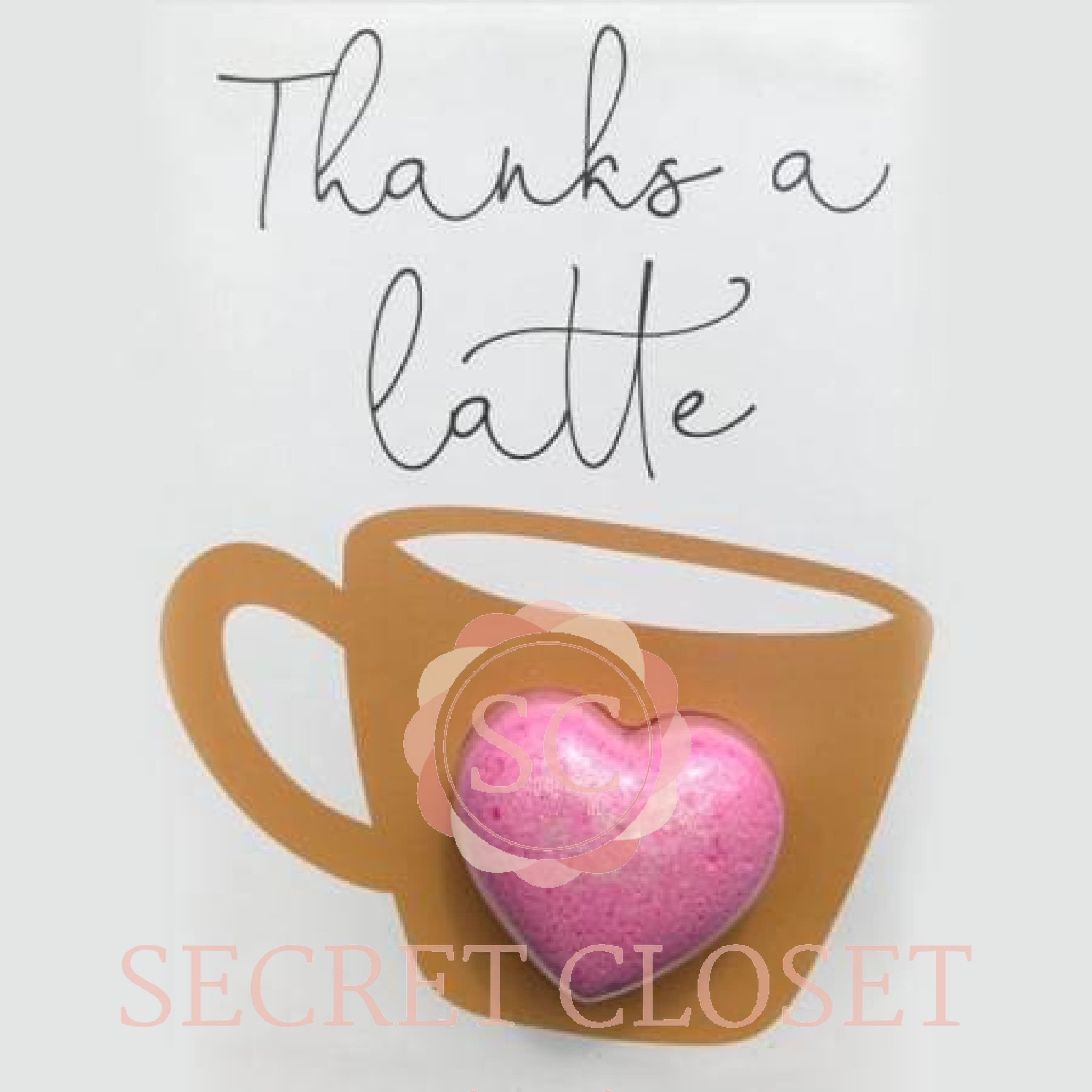 Thanks A Latte Bath Card