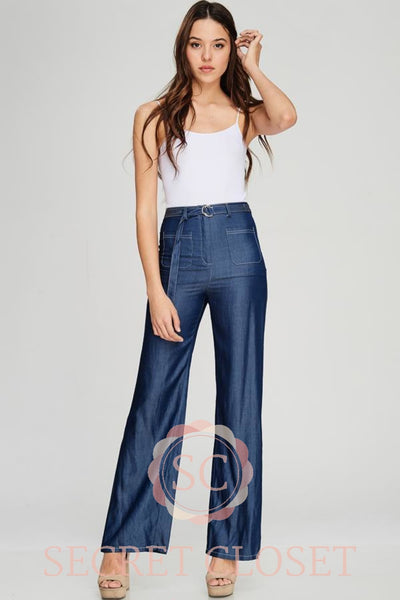 Wide Leg Tencel Pants Clothing