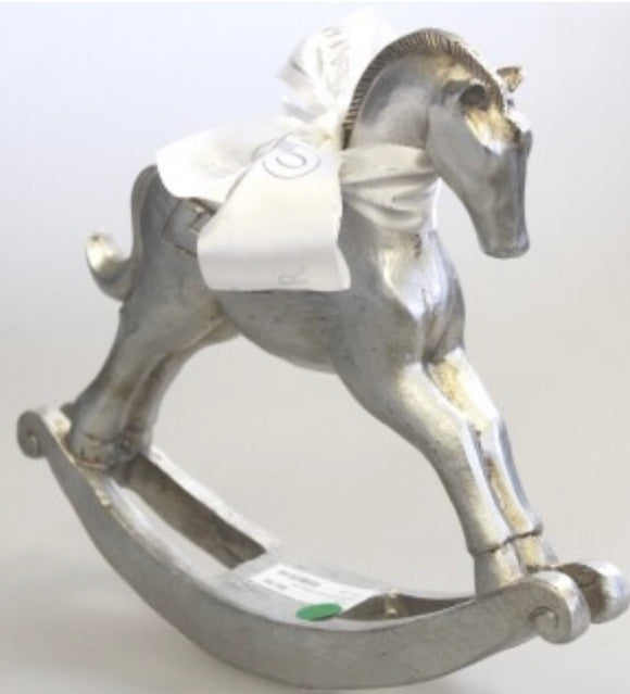 Silver Rocking Horse