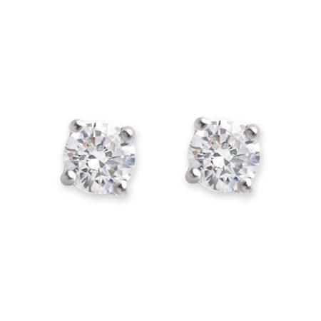 CZ Medium Claw Set Stud Earrings