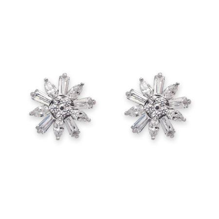 CZ Small Flower Stud Earrings