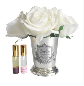 Seven Rose Bouquet Ivory White