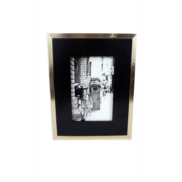 Lux Gold & Black Photo Frame