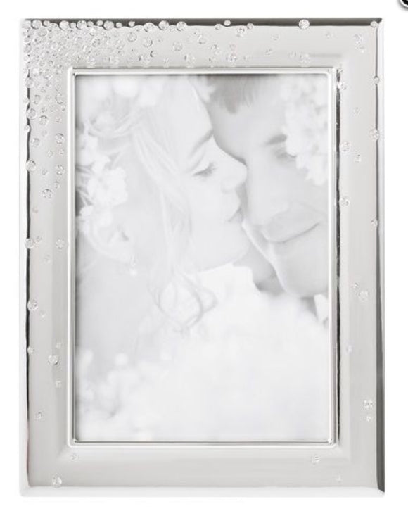 Silver Plated Diamonte Frame 5x7