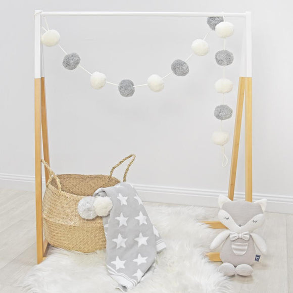 Pompom Garland - Grey/White