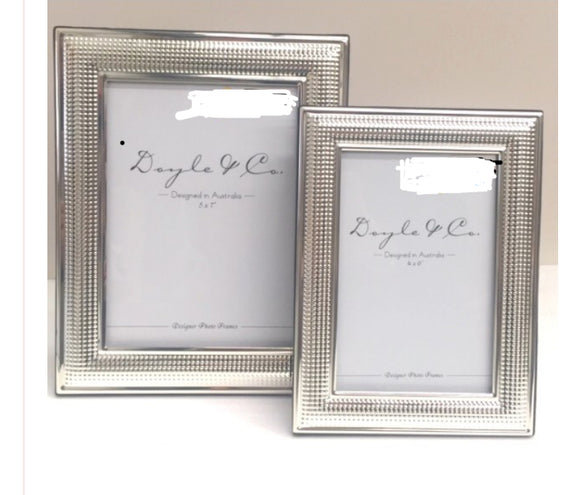 Silver Plated Studded Dots Frame