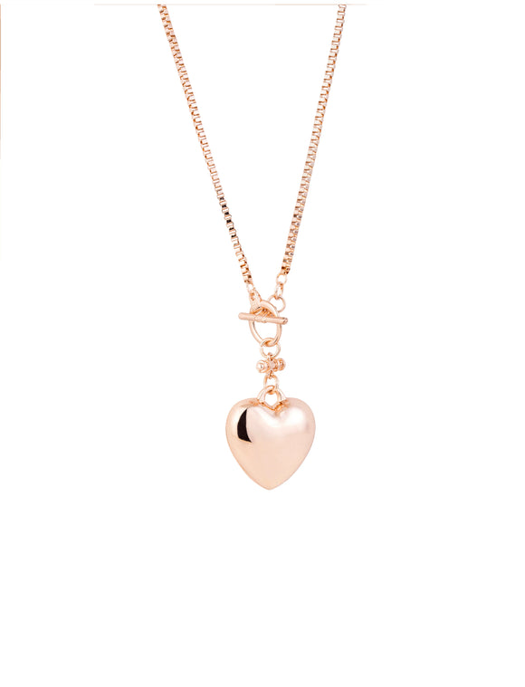 Heart Necklace Rose/Gold