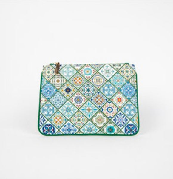 Italian Summer Tiles Zip Top Pouch