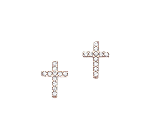 Cross Earrings Studs