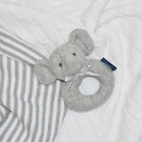 Cable Knit Rattle - Elephant