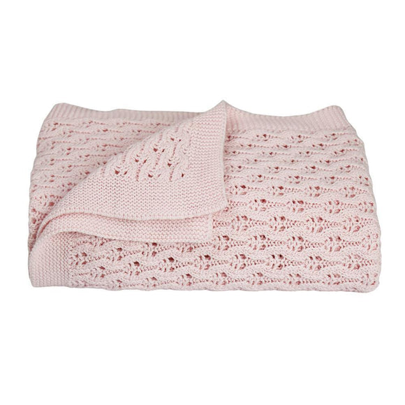 Lattice Baby Shawls - Pink