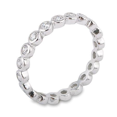 CZ Bezel Eternity Ring