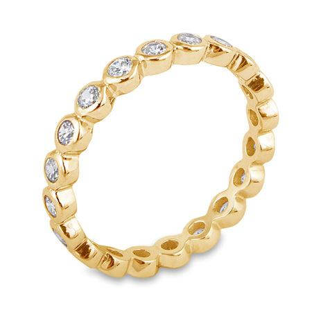 Gold CZ Bezel Eternity Ring