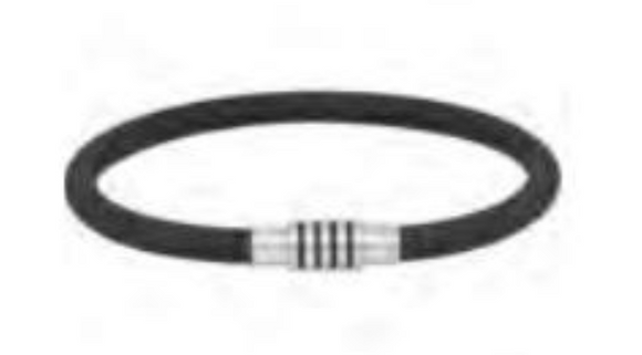 Stainless Steel & Rubber Bracelet