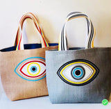 Beach Bag Evil Eye