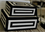 Black & White Resin Design Box Large
