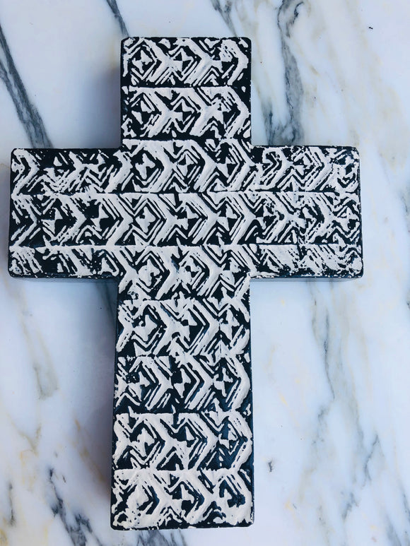 Cross Saxon Sculpture Wall Decor