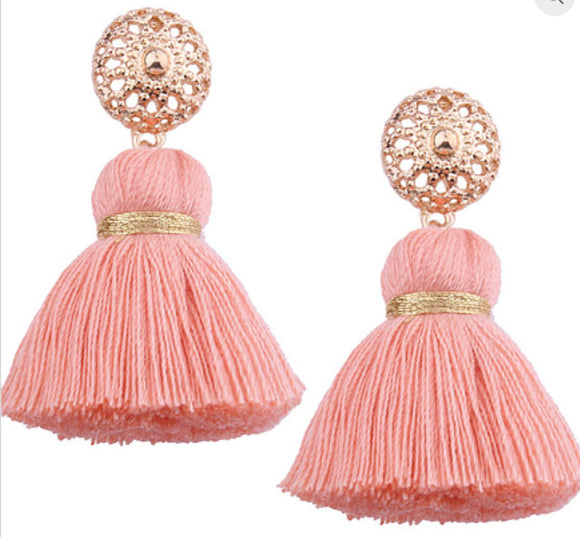 Verity earrings pink