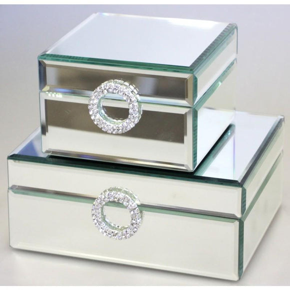 Crystal Circle Mirror Jewel Box