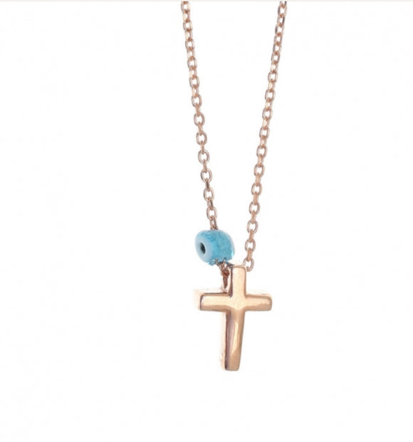 Tiny Shiny Cross Necklace