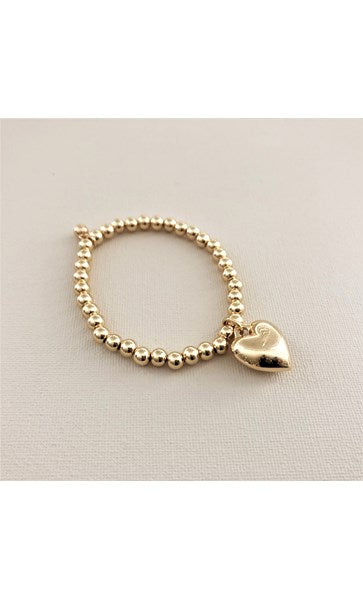 Heart Ball Bead Bracelet
