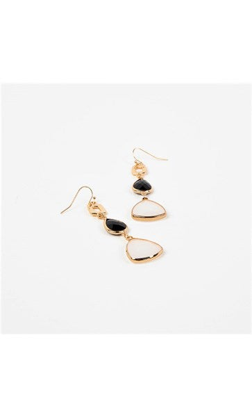 GEMS DROPS HOOK EARRINGS