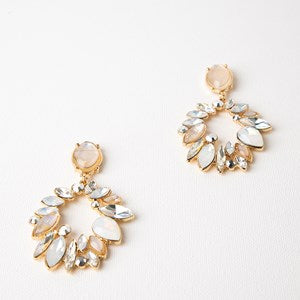 TREASURE HUNT JEWELLED ALMOND DROP EARRINGS