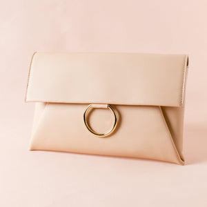 Metal Ring Flap Over Clutch