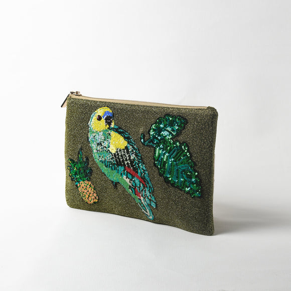 Tropicana Sequin Glitter Clutch