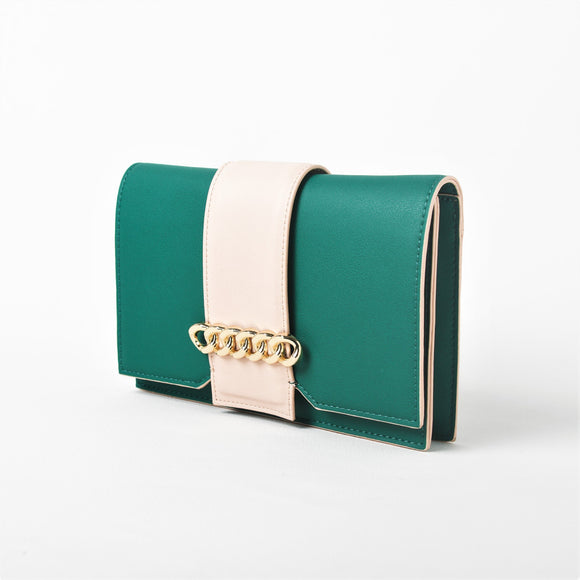 Chain Front Fold Over Clutch