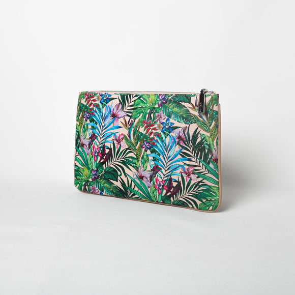 Tropicale Piped Edge Zip Top Pouch