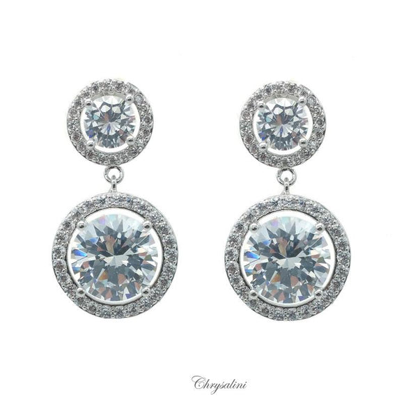 Round CZ Earrings