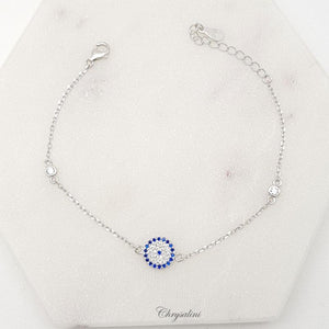 Sterling Silver Blue/Clear Bracelet