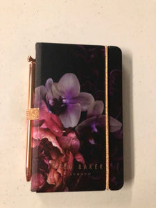 Floral mini Notebook and Pen