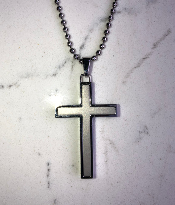 Stainless Steel Matt & Polished Cross