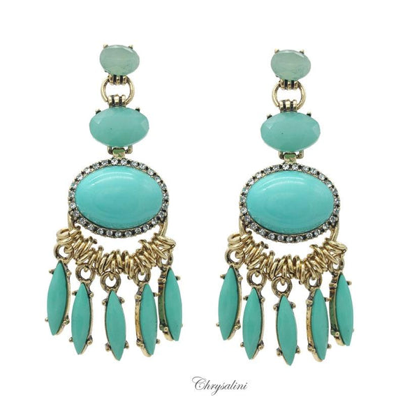 Turquoise/Gold Earrings
