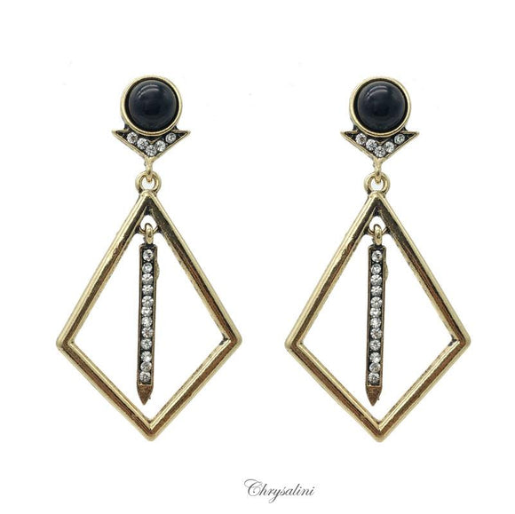 Black/Gold Fashion Earrings