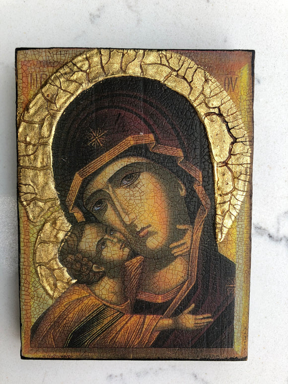 Icon - Mary And Jesus 15 Med