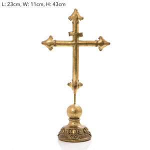 Golden Cross on Stand