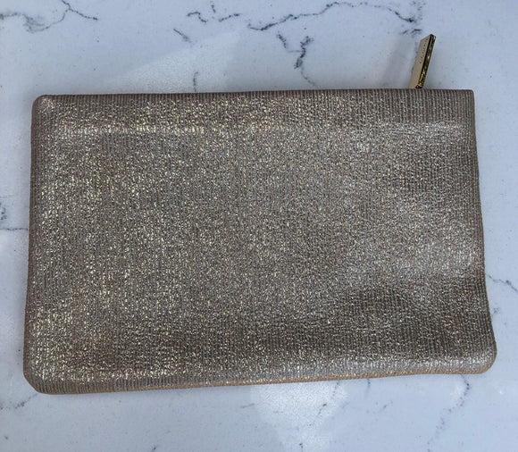 Metallic stripe clutch