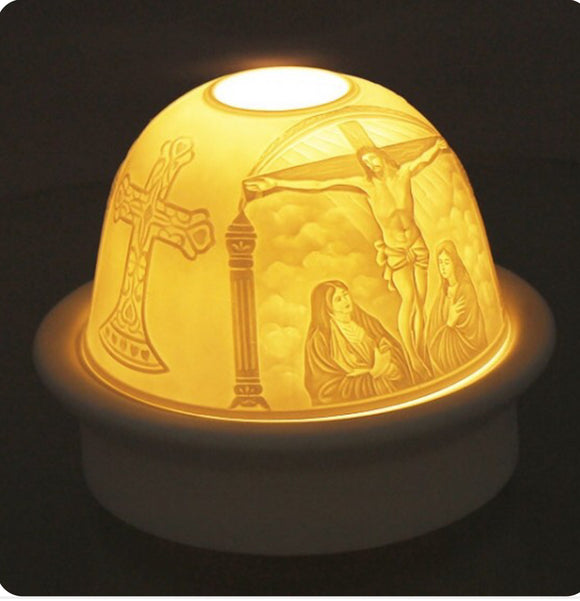 Luminous Passion - White Porcelain LED Night Light