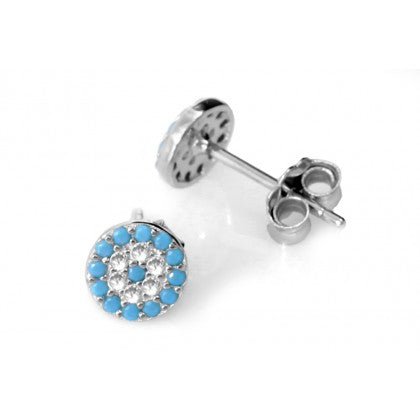 Evil Eye Small Stud Earrings