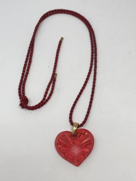 Lalique Heart Necklace-Sun and Moon Collection
