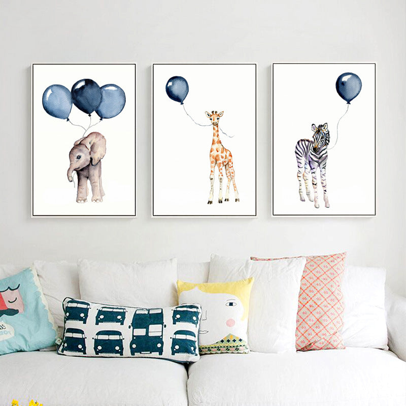 Blue Balloon Babies Canvas Collection