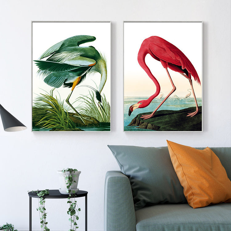 Tropical Flamingo Canvas Set