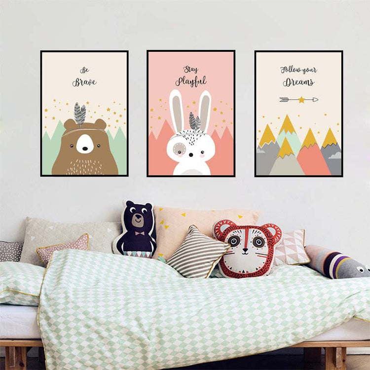 Clever Critters Canvas Collection