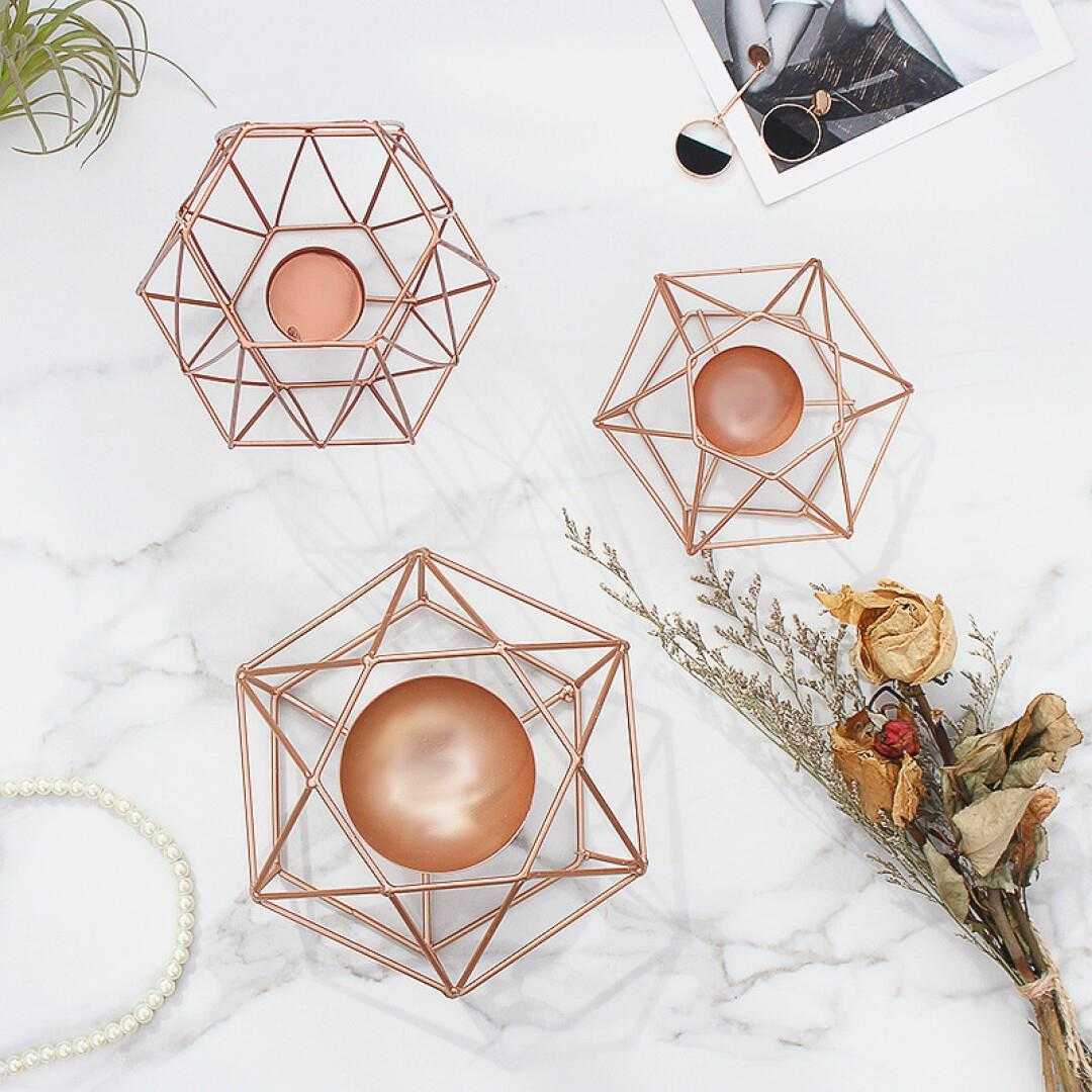 Lusso Geometrico Candle Holders