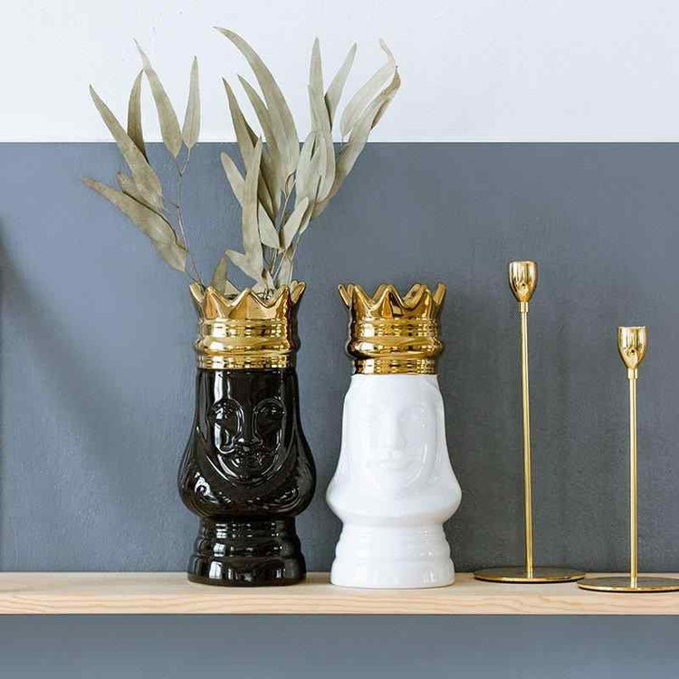 King & Queen Vase Set