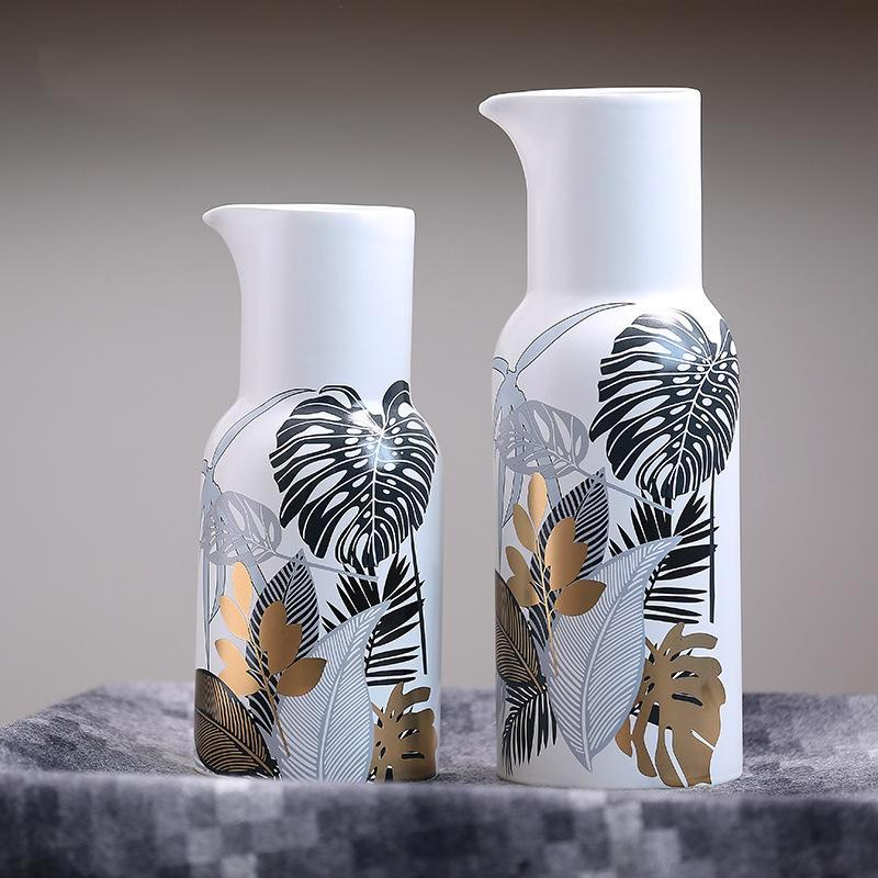 Golden Palm Vases